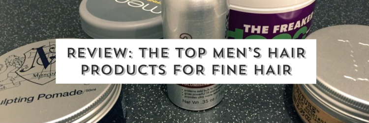 Men's hair products for fine hair - image - cascade of colour blog