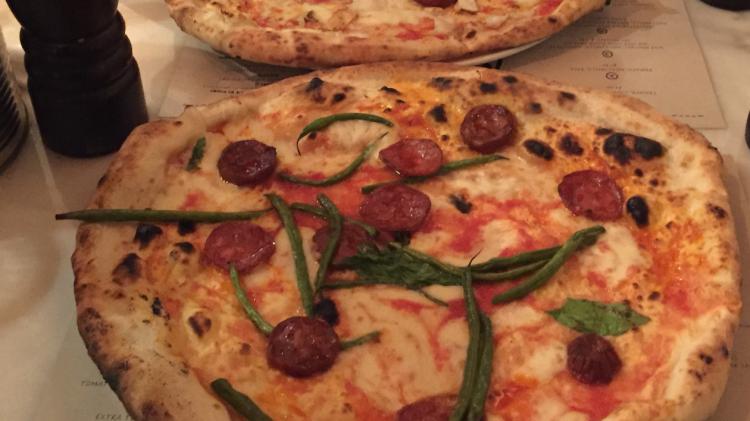 Pizza Hackney - Cascade of Colour blog