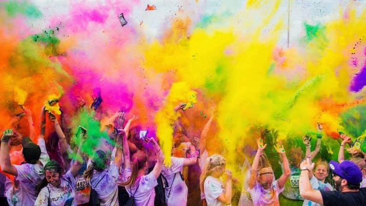 colour run - cascade of colour blog