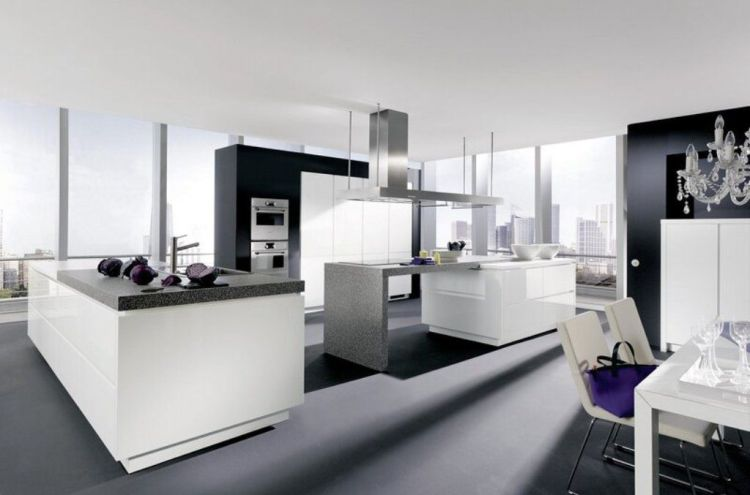 Grey-Floor-With-Sleek-White-Cabinet-For-Modern-Kitchen-Ideas-Using-Crystal-Chandelier.jpg